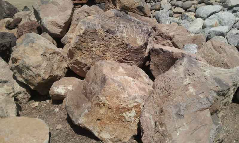 Pink Lava Boulders