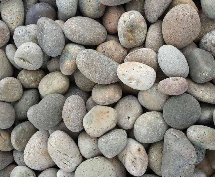 Blue Rock Landscape materials mexican buff river rock