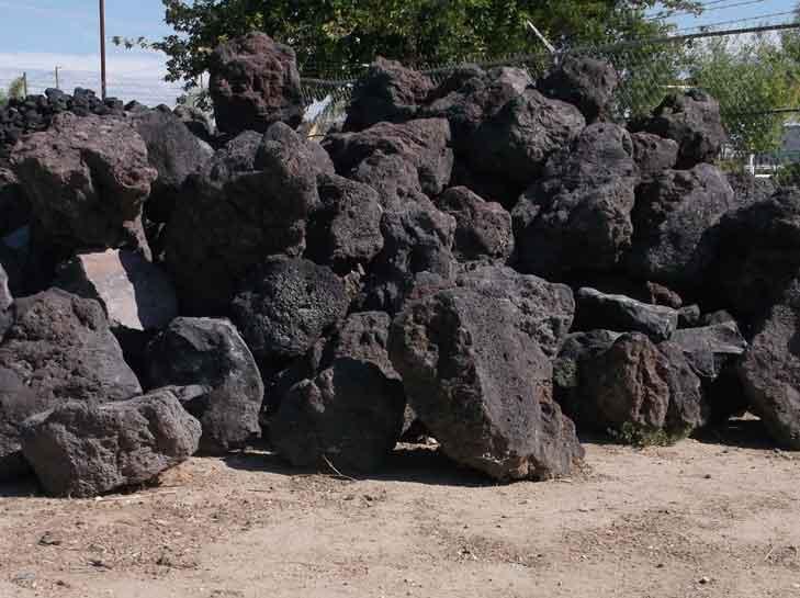 Black Lava Boulders